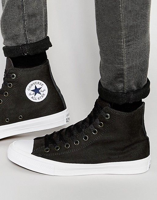 5768ee43cb99d1 Converse Chuck Taylor All Star II Sneakers In Black 150143C