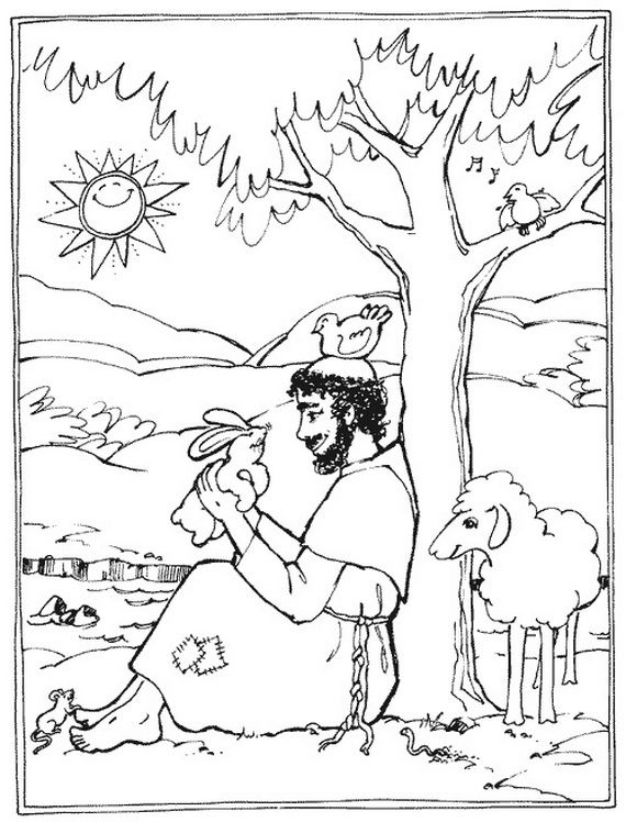 St Francis Of Assisi Coloring Pages For Catholic Kids School