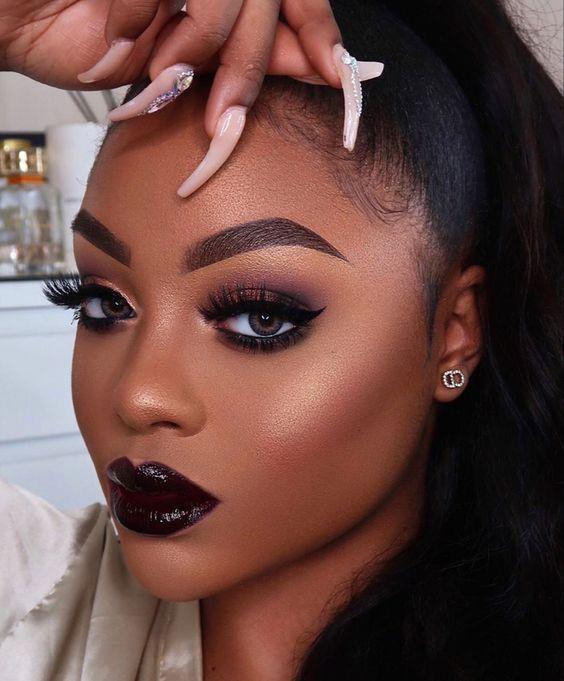 Purple Lipsticks For Dark Skin #darkskingirls