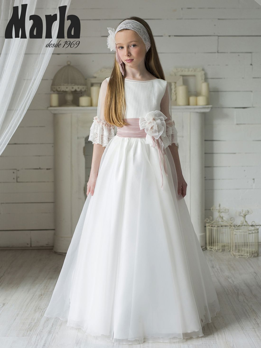 Vestido Comunión 2020 Marla Modelo K108 Vestidos De Comunión Vestidos Comunion Niña Vestido Floral Para Chicas