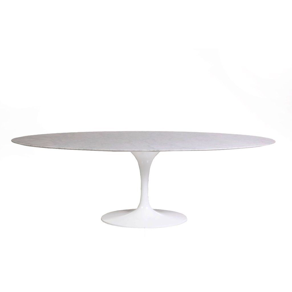 Italian Carrara Marble Tulip Dining Table 96 Oval Dining Table Tulip Dining Table Dining Table Marble