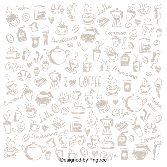 Cartoon Hand Painted Coffee Pattern Icon Coffee Drinks Hot Drinks Png And Vector With Transparent Background For Free Download Coffee Vector Simple Cartoon Cartoon Clip Art