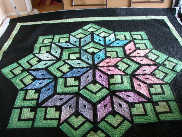 Starburst.....quilted by Charismah of Quilting Board | ♥♥ Quilts ... : starburst quilt - Adamdwight.com