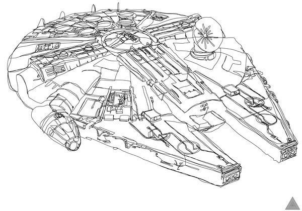 Awesome One Line Drawing Star Wars Illustrations Star Wars