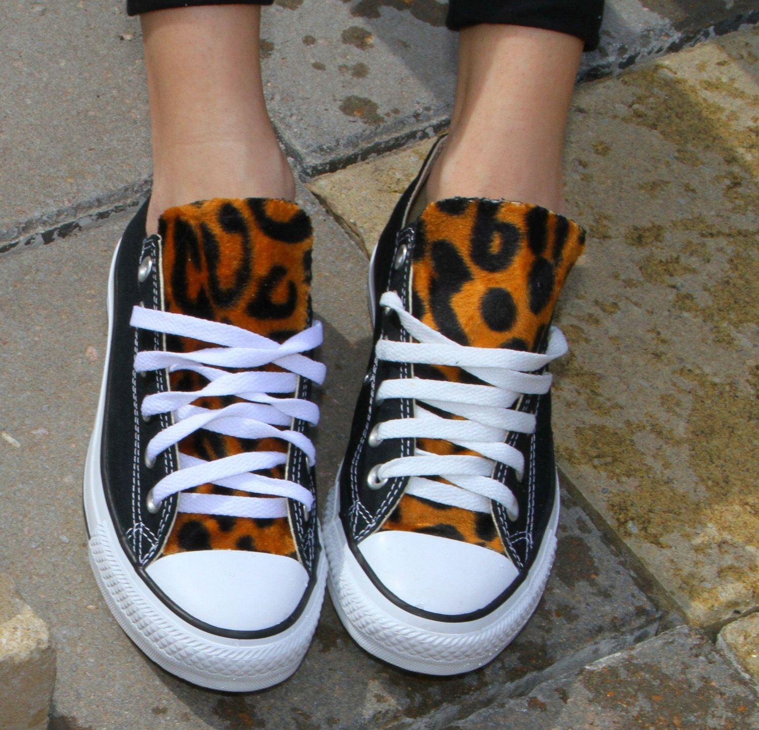 821233b2f4e7 Converse Leopard Print Chuck Taylors All Star Shoe Custom All Sizes by  LoveChuckTaylors on Etsy https