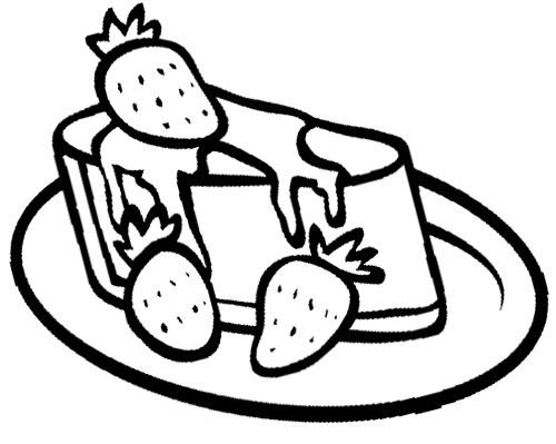 strawberry cheese cake coloring page - Cake Coloring Pages