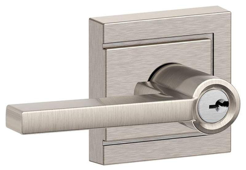 Schlage F51 Orbit Satin Chrome Keyed Entry Contractor Series Door Knob New