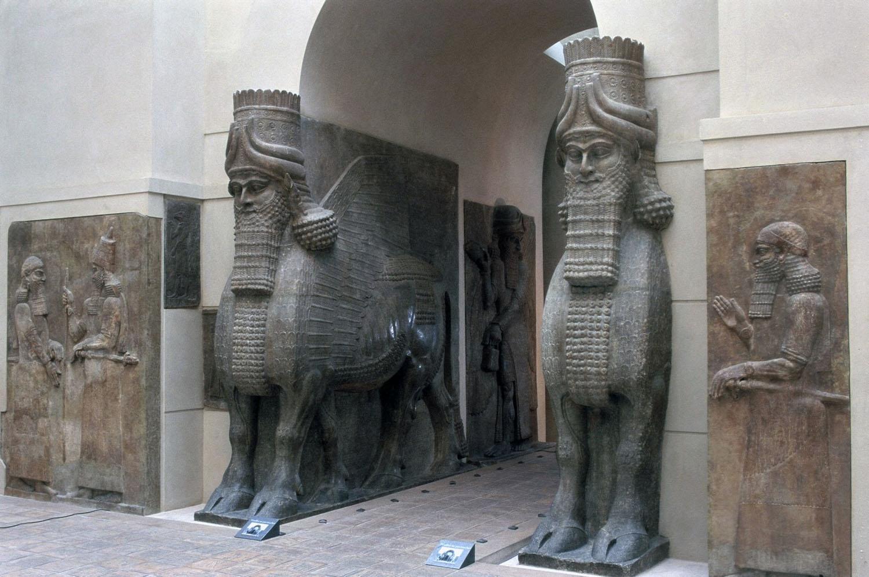 Lamassu from the citadel of Sargon II, Dur Sharrukin ...
