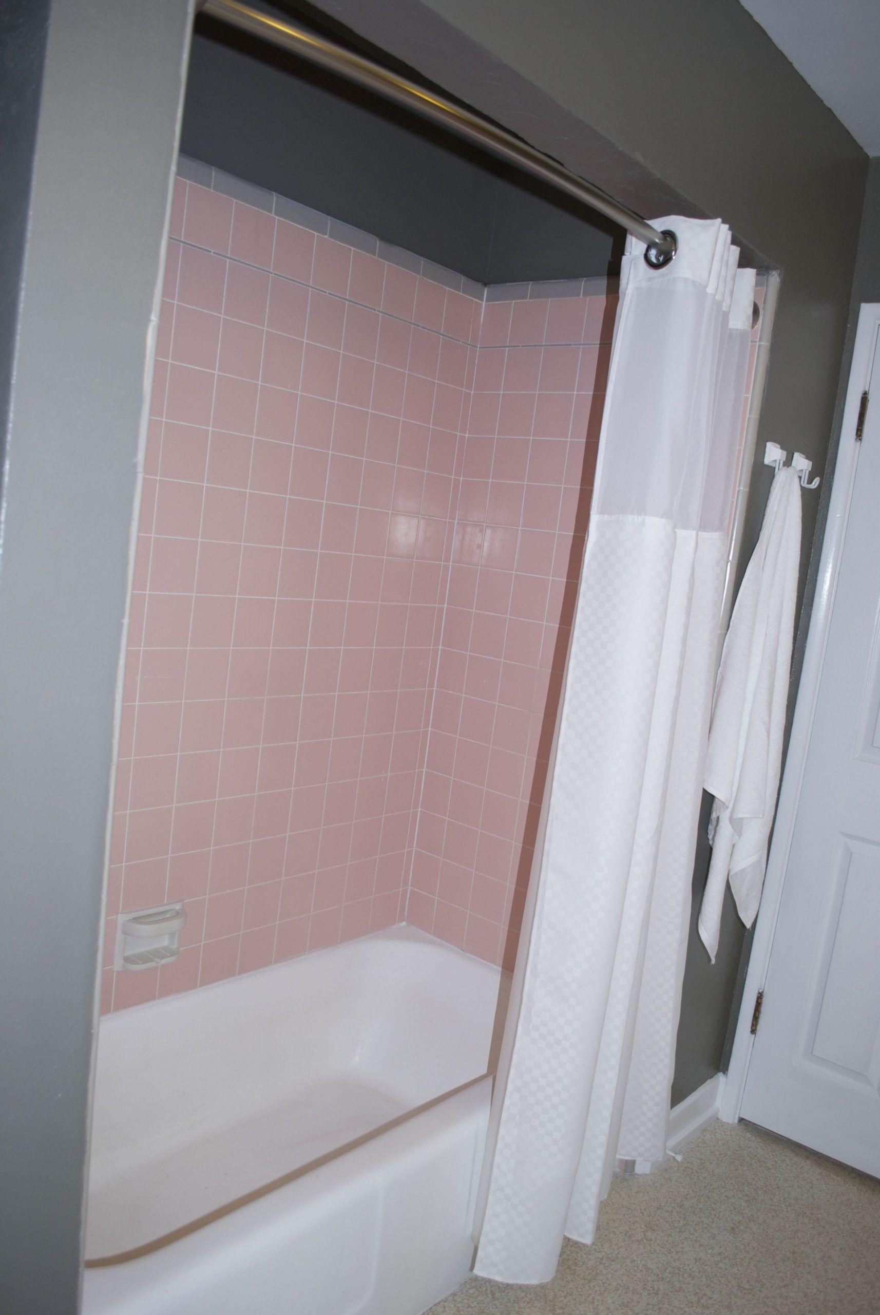 Pink Tile Bathroom Paint Color In 2020 Pink Bathroom Tiles Tile Bathroom Pink Tiles