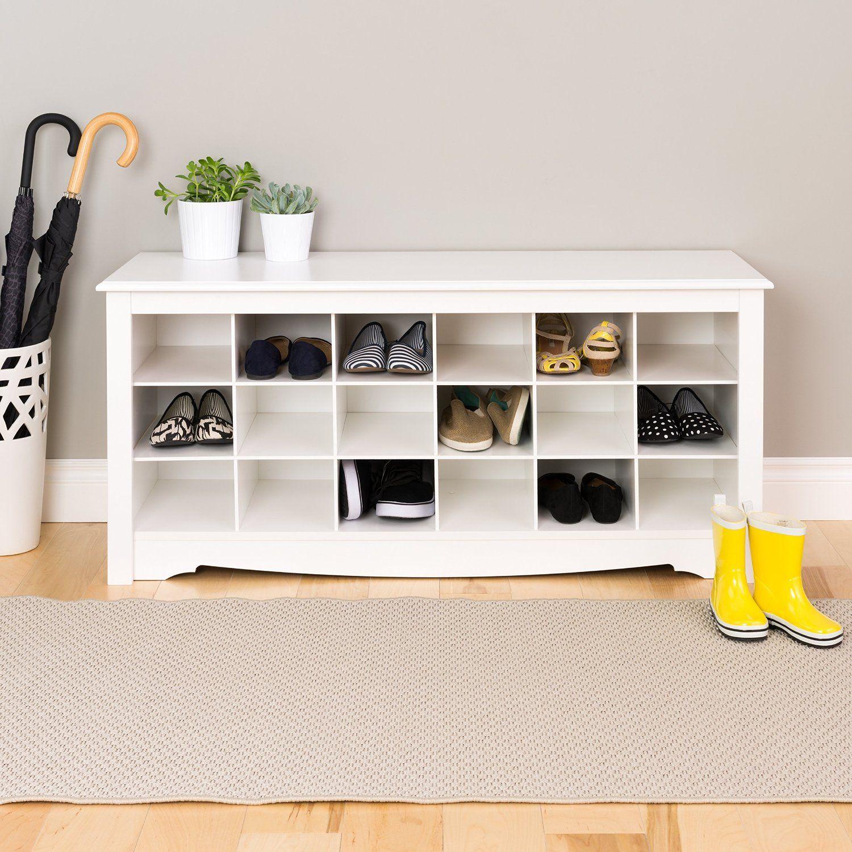 shoe cubby benc organizer | Inspiration | Mudrooms | Pinterest