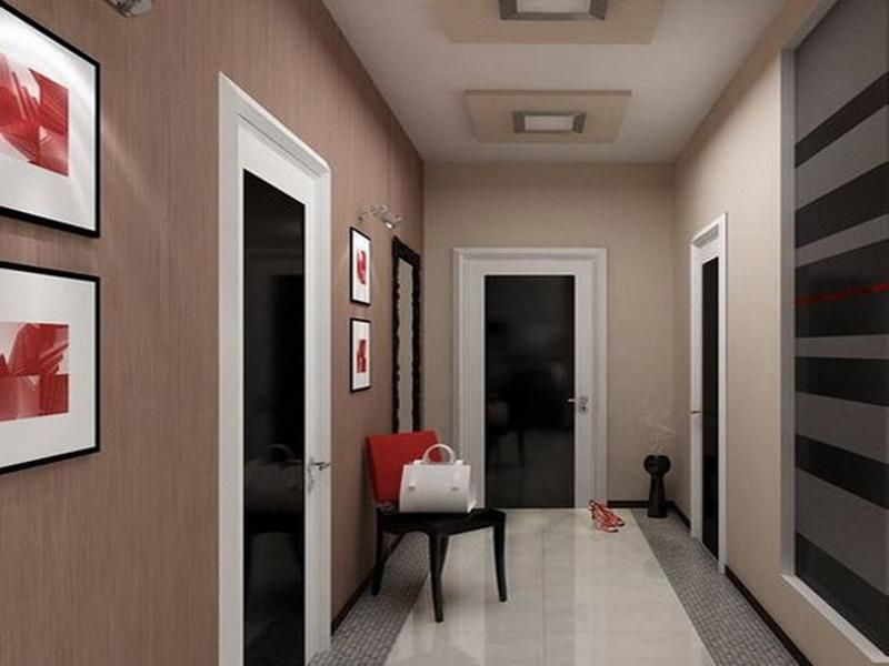 Hall decorating ideas scenic bungalow hallway decorating for Foyer paint color decorating ideas
