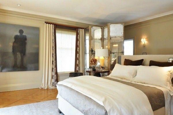 raumteiler schöne aufteilung im schlafzimmer Design