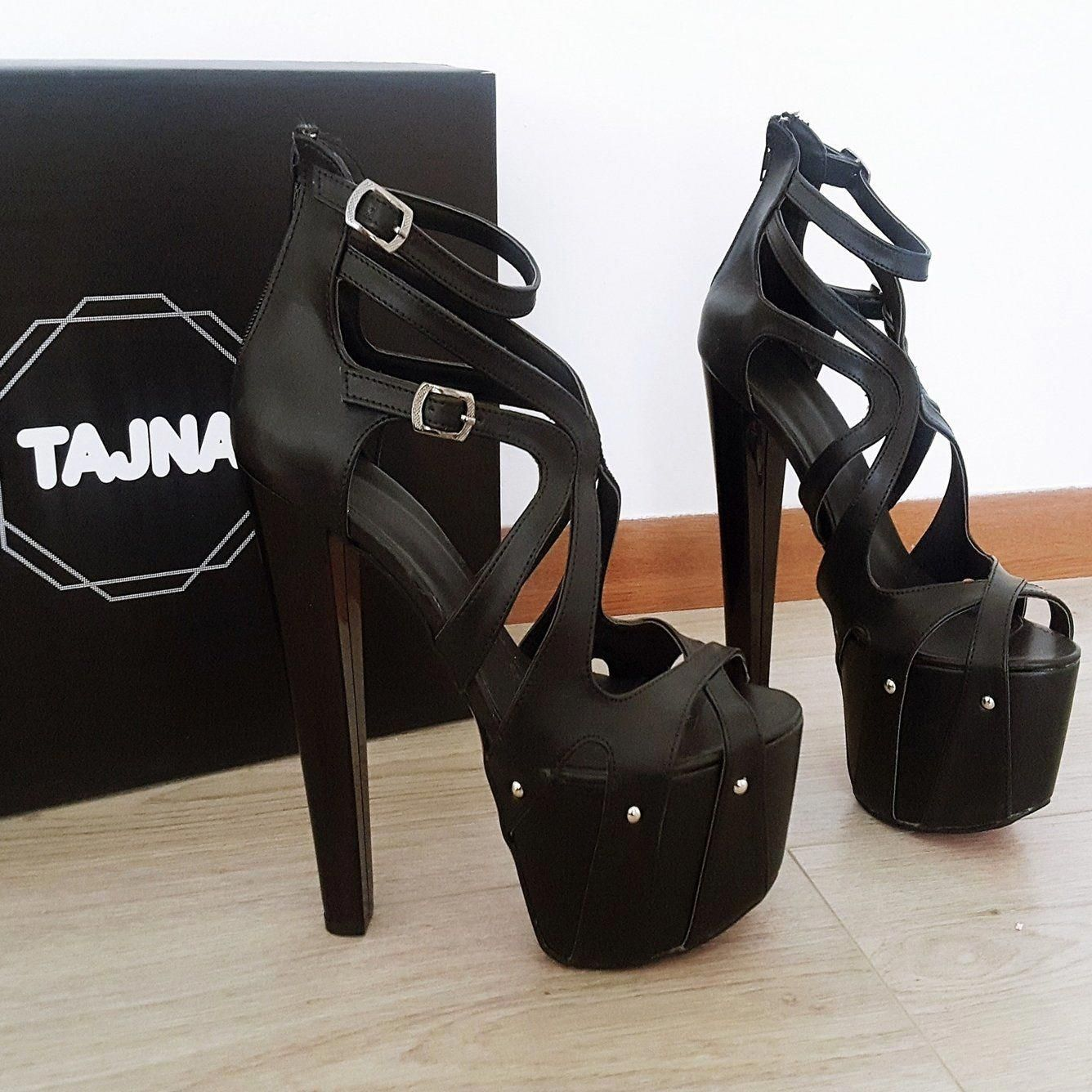 3e1dc8ab2 Black Cage Designer High Heel Platform Shoes – Tajna Club #Highheels ...