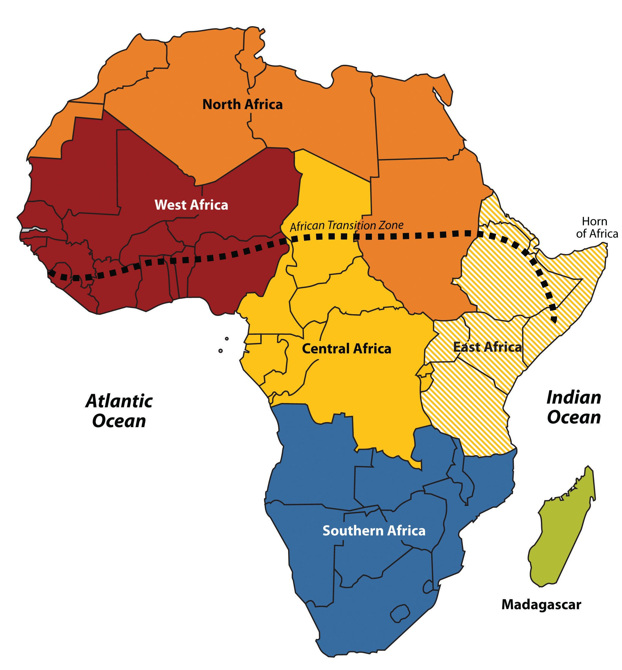 Regions of Africa Geography Pinterest Africa and Geography