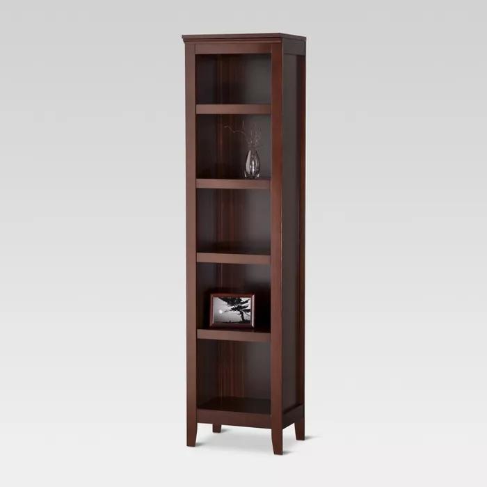 72 Carson Narrow Bookcase Light Brown Threshold Bookcase Shelves Narrow Bookshelf