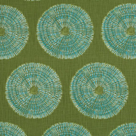 Olive Green Geometric Upholstery Fabric Heavyweight Aqua Cotton For Furniture Blue Green Pillow Geometric Upholstery Blue Green Pillow Green Pillow Covers
