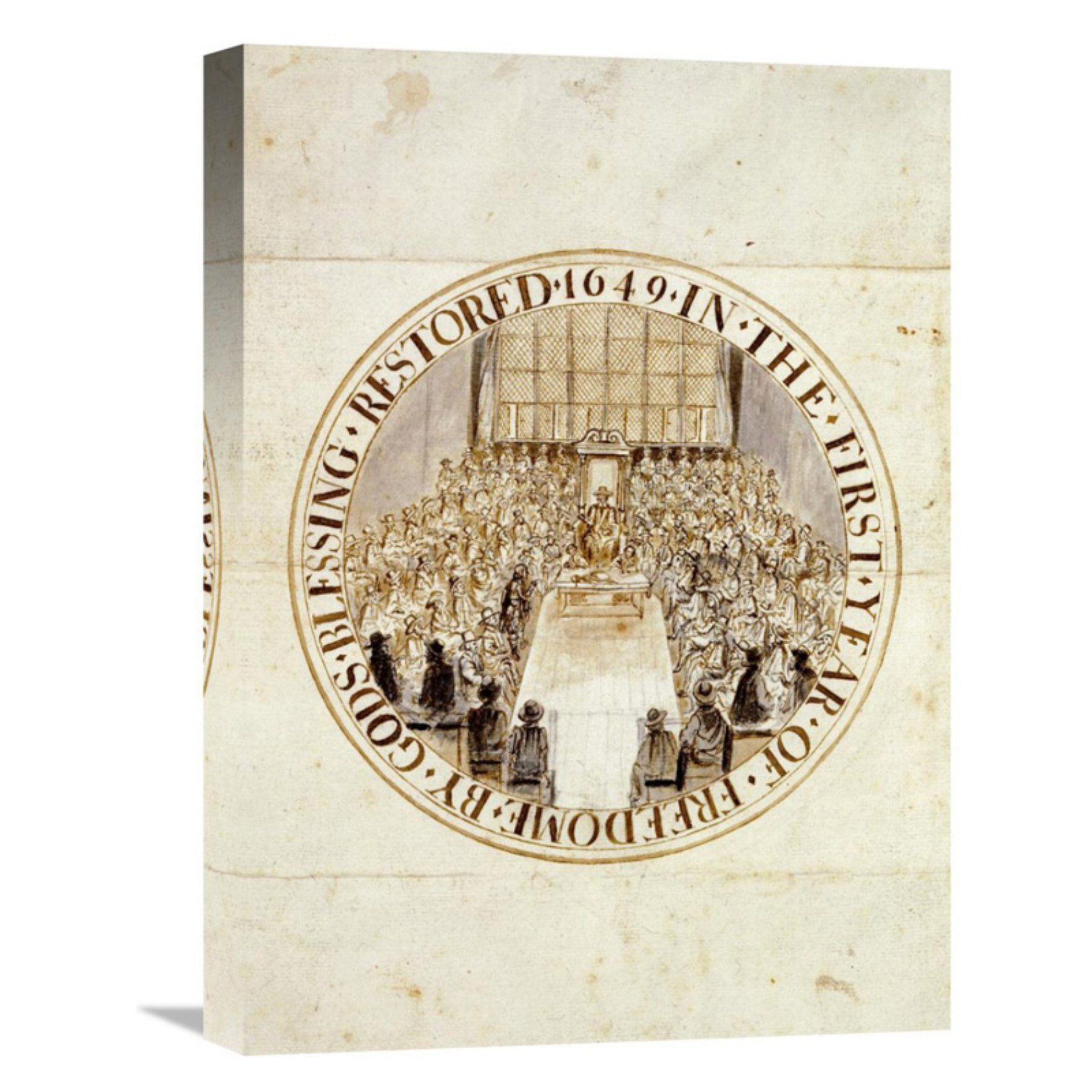 Global gallery a design for the great seal of england canvas wall