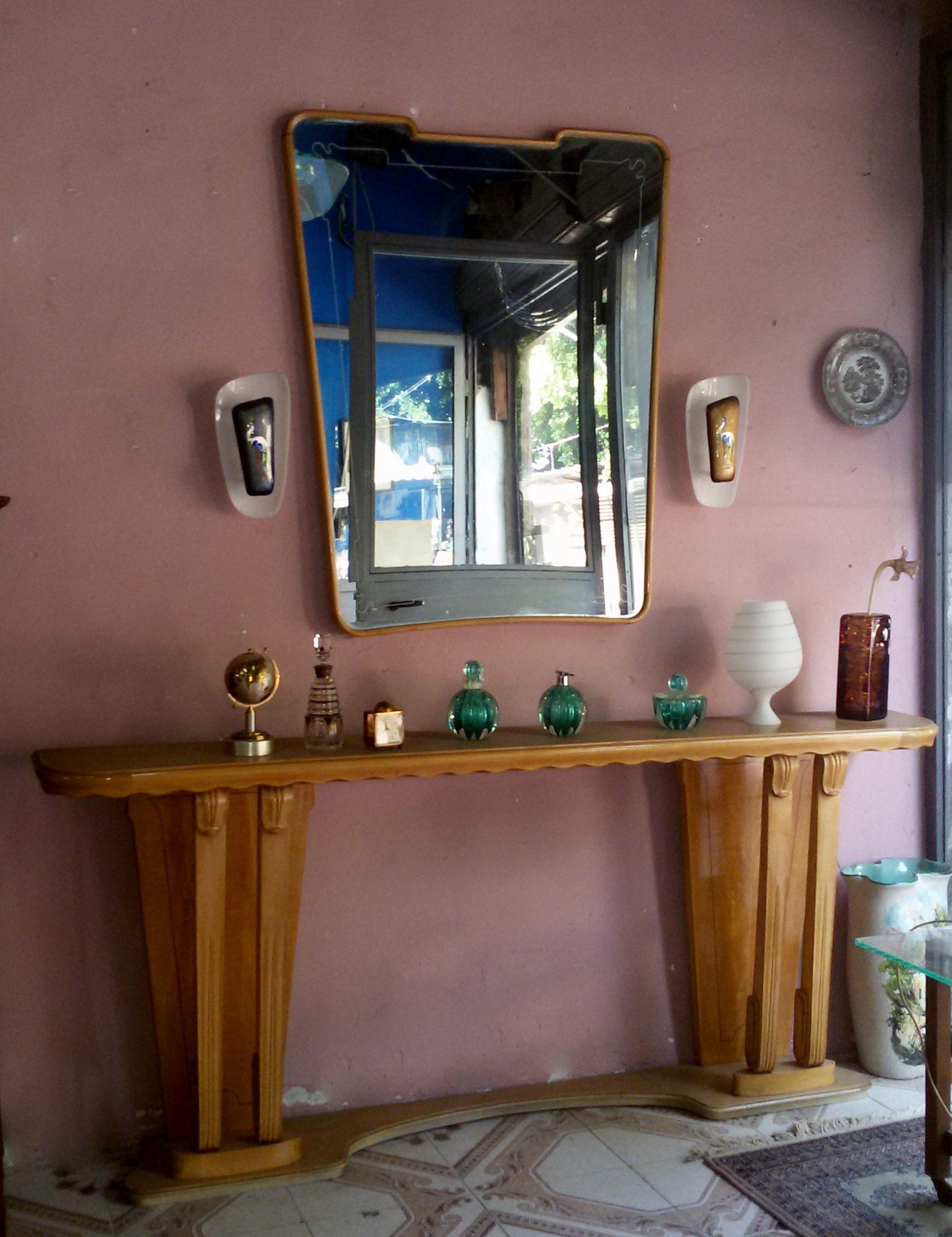 consolle ingresso con specchio,mirror 1950 design paolo,buffa ... - Mobili Design Ingresso