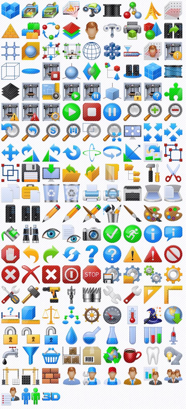 3d Printer Toolbar Icons on Behance