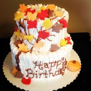 Remarkable Fall Birthday Cake Fall Birthday Cakes Fall Cakes Cake Funny Birthday Cards Online Elaedamsfinfo
