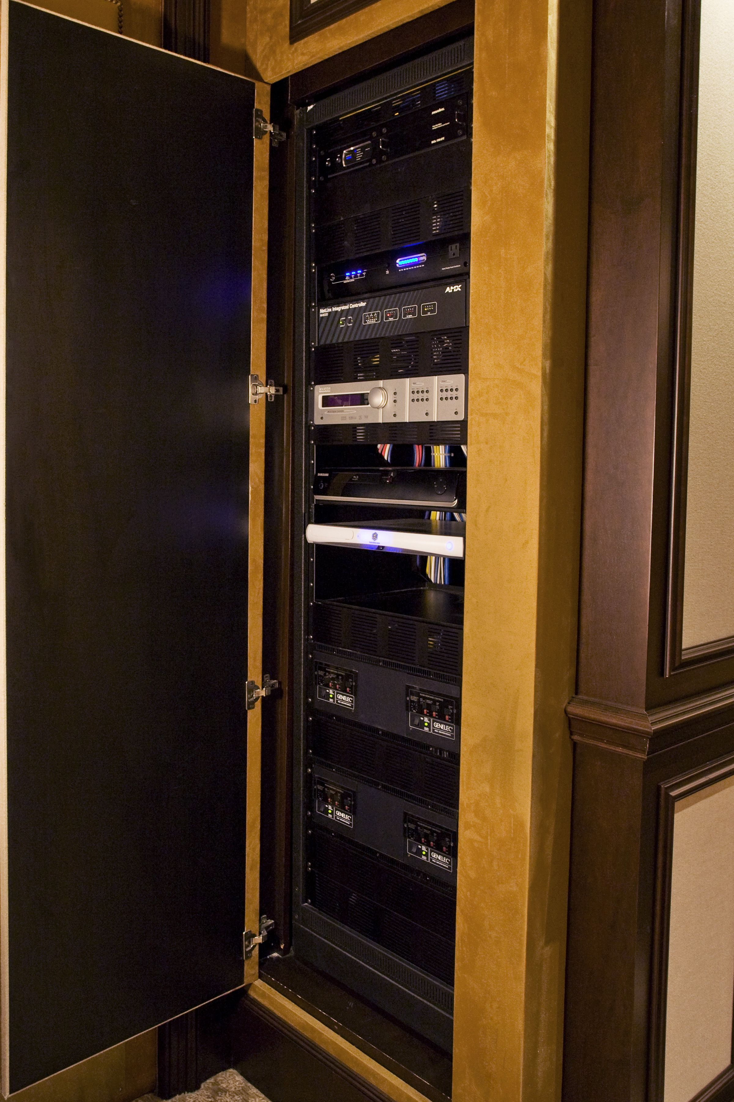 medium resolution of home theater media closet built in theater room