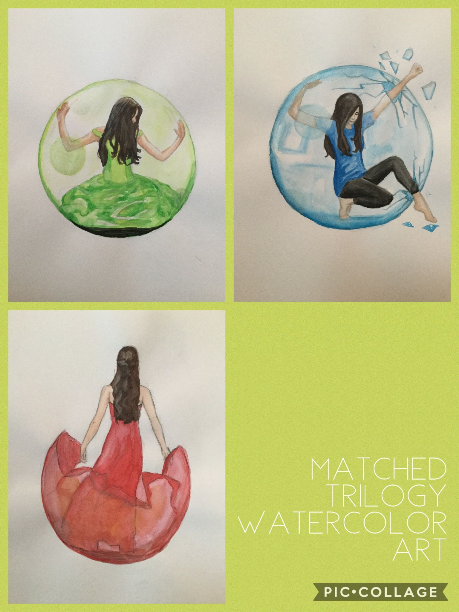 Watercolor book covers - Matched Trilogy Watercolor Art Matched Crossed Reached Book Cover Art