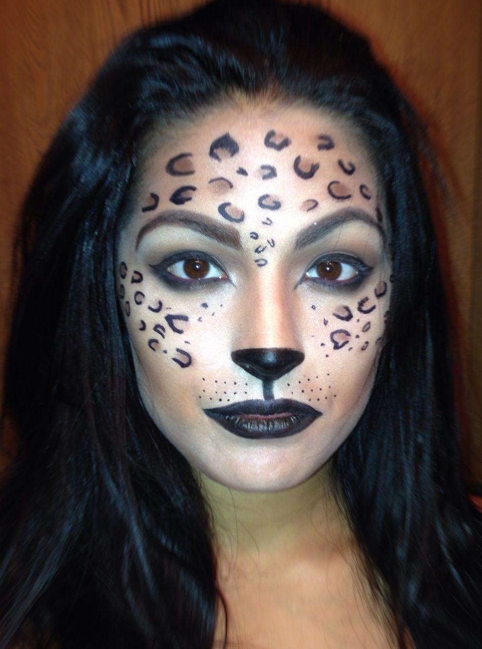 Leopard inspired halloween makeup Leopard makeup