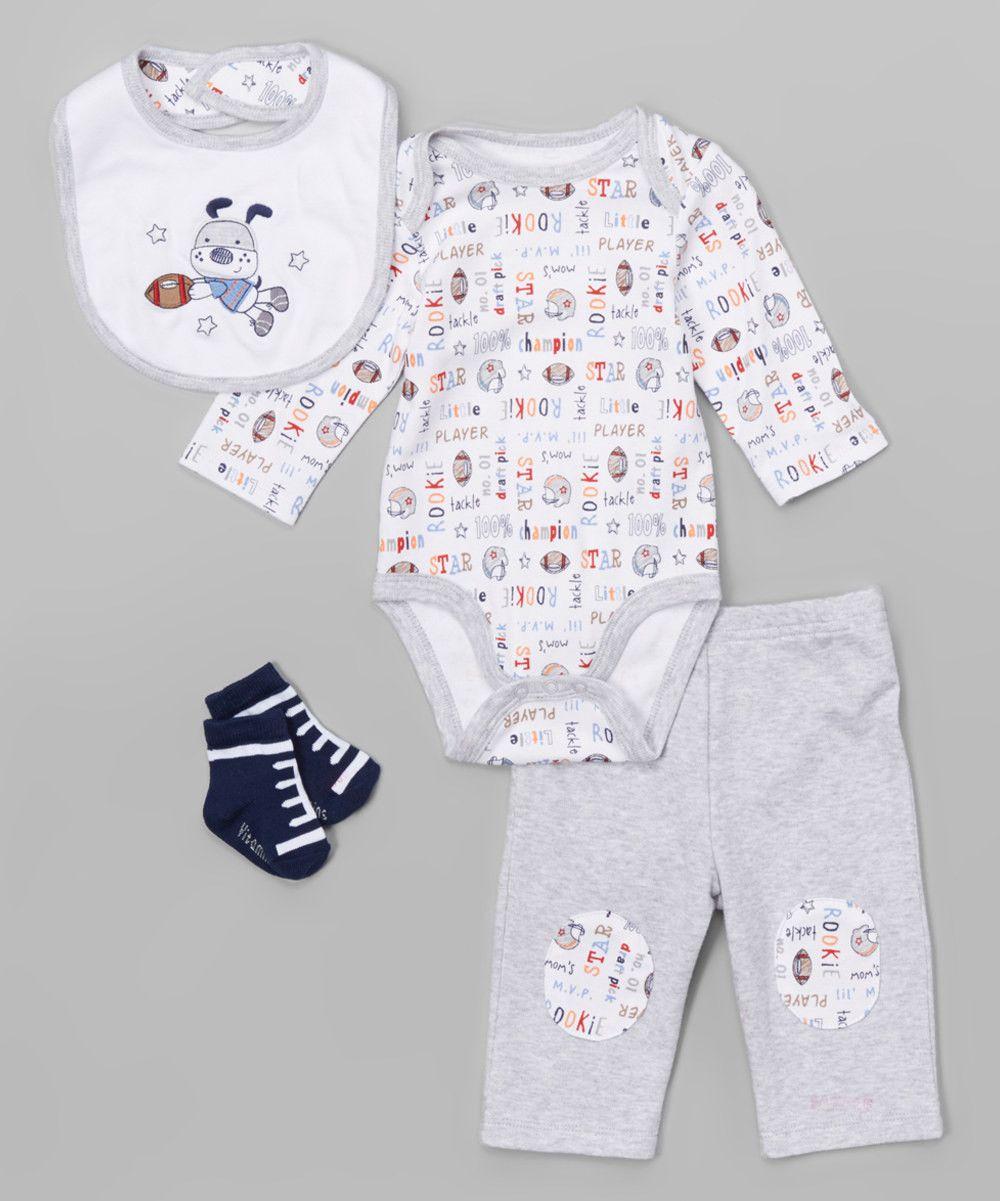 4-Piece Creeper Pant Set Football Rookie – Vitamins Baby
