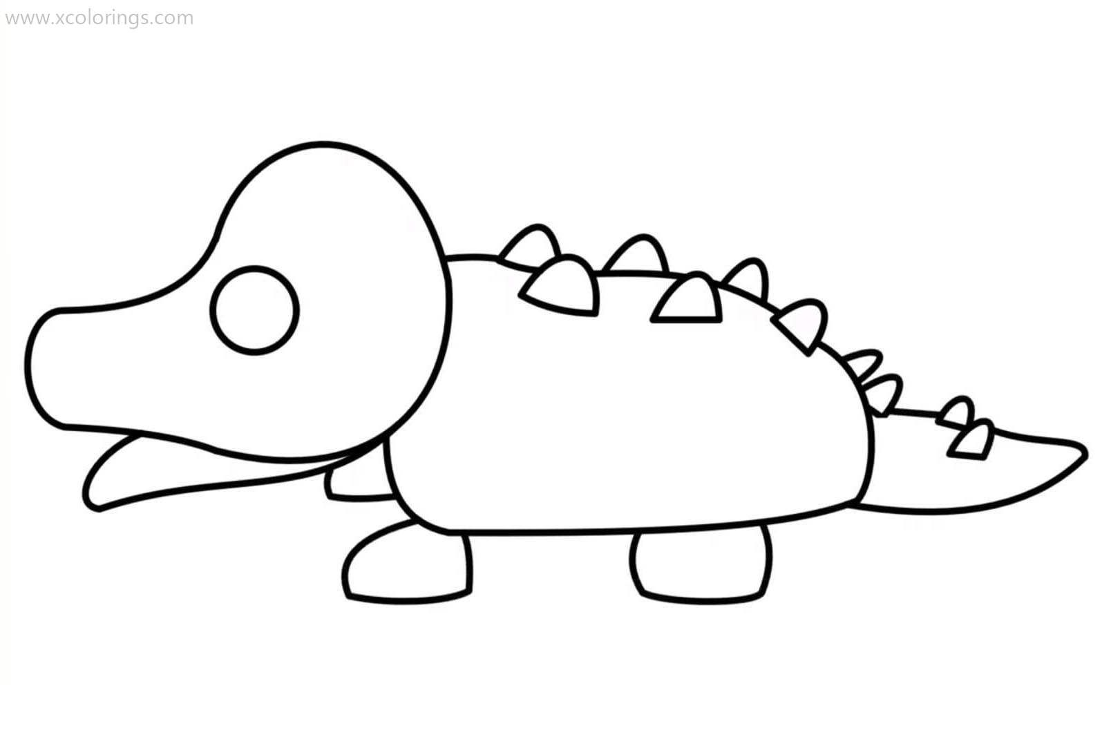 Roblox Adopt Me Coloring Pages Crocodile Pets Drawing Coloring Pages Adoption