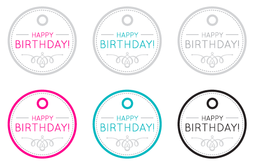 graphic about Happy Birthday Tag Printable titled Pleased Birthday Printable Reward Tags Printable Present tags