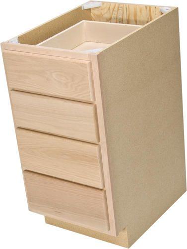 quality one 15   x 34 1 2   unfinished oak 4 drawer  unfinished kitchen cabinetsbase     quality one 15   x 34 1 2   unfinished oak 4 drawer base cabinet at      rh   pinterest com