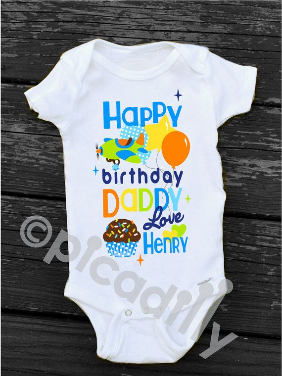 BABY BOY Happy Birthday DADDY Personalized By PartyonPicadillylane Uncle Gifts
