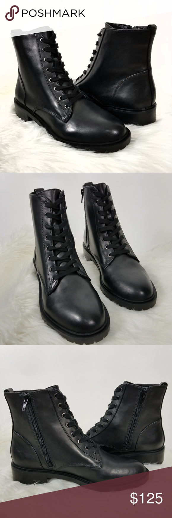 1dae4c8f658 🌹Steve Madden Black Officer Combat Boot🌹 Steve Madden officer combat boot.  Leather upper