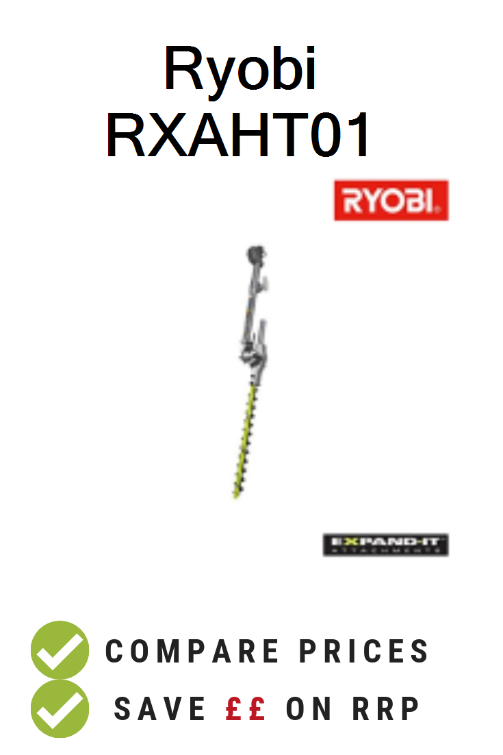 Ryobi Rxaht01 Uk Prices Ryobi Rxaht01 Expand It Articulating Hedge Trimmer Attachment With Smarttool Technology Deals And Voucher Ryobi Hedge Trimmers Price
