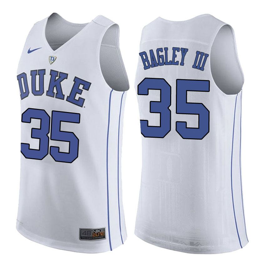 aaf2f1f90 Marvin Bagley III  35 Duke Basketball Jerseys White Blue Cheap Original  NCAA Jerseys