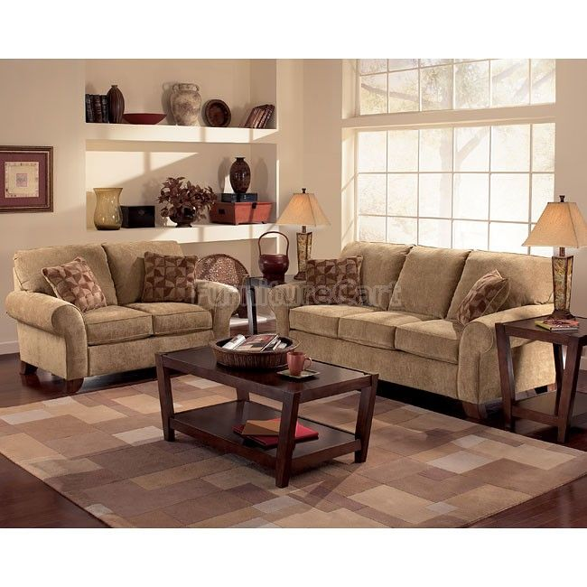 Country Living Room Furniture Sets: Townhouse - Tawny Living Room Set In 2019