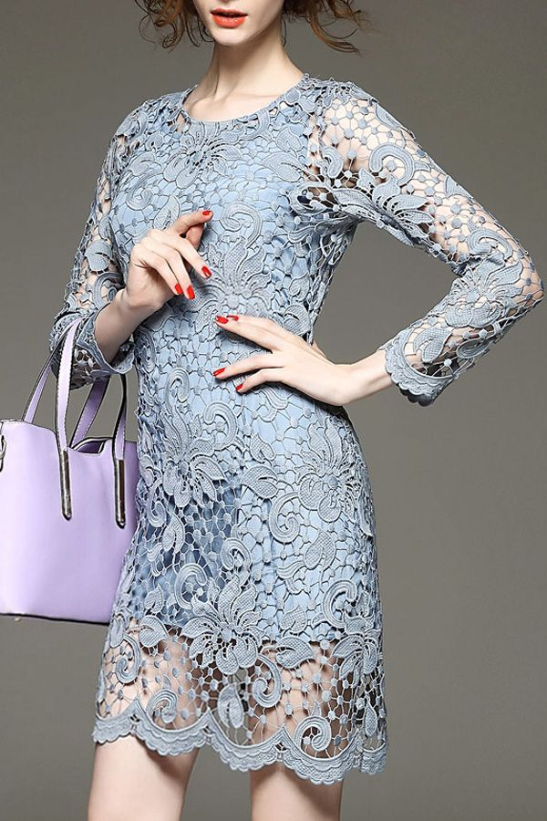 Lace Openwork Dress