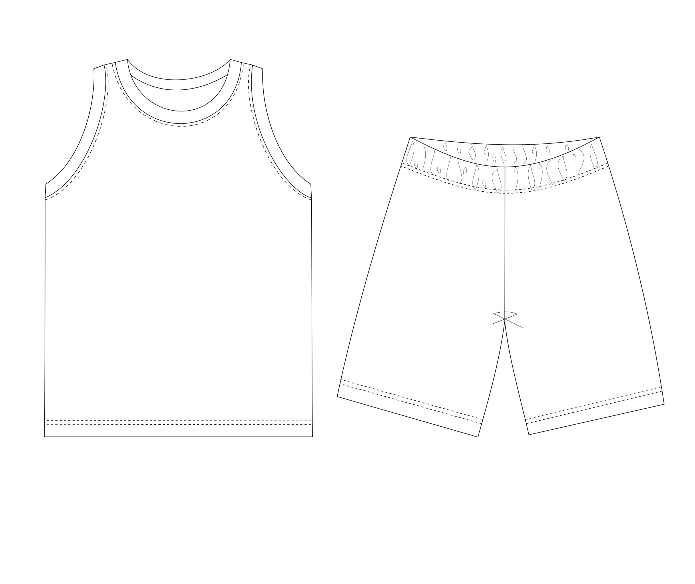 Tank Top And Shorts Sewing Pattern Sewing Patterns