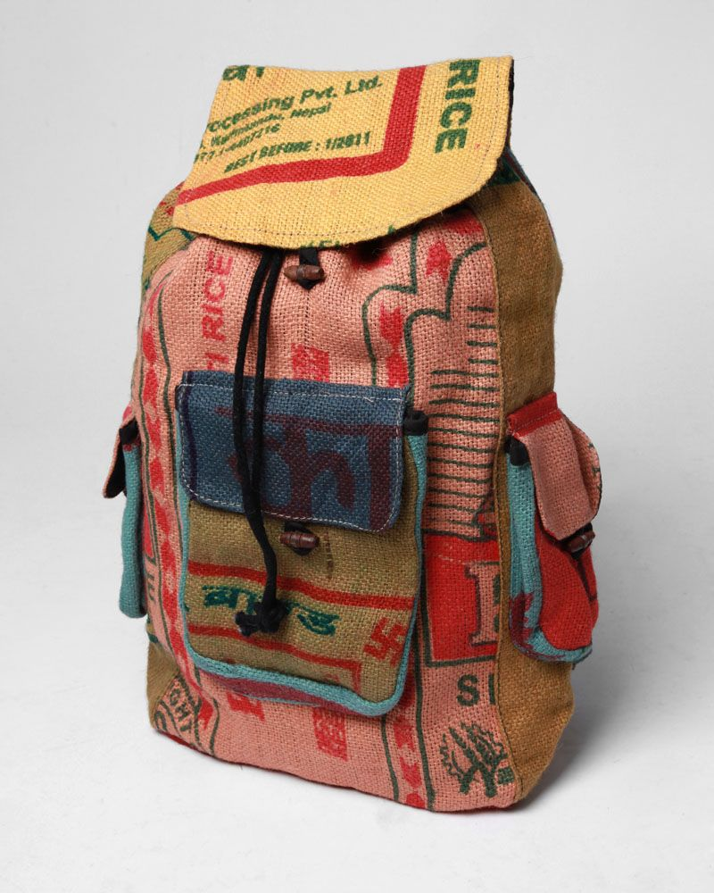 Recycled rice bag purse - Kathmandu Recycled Rice Bags Backpack Totally Relevant To My Design Issue Aside From Being Appealing