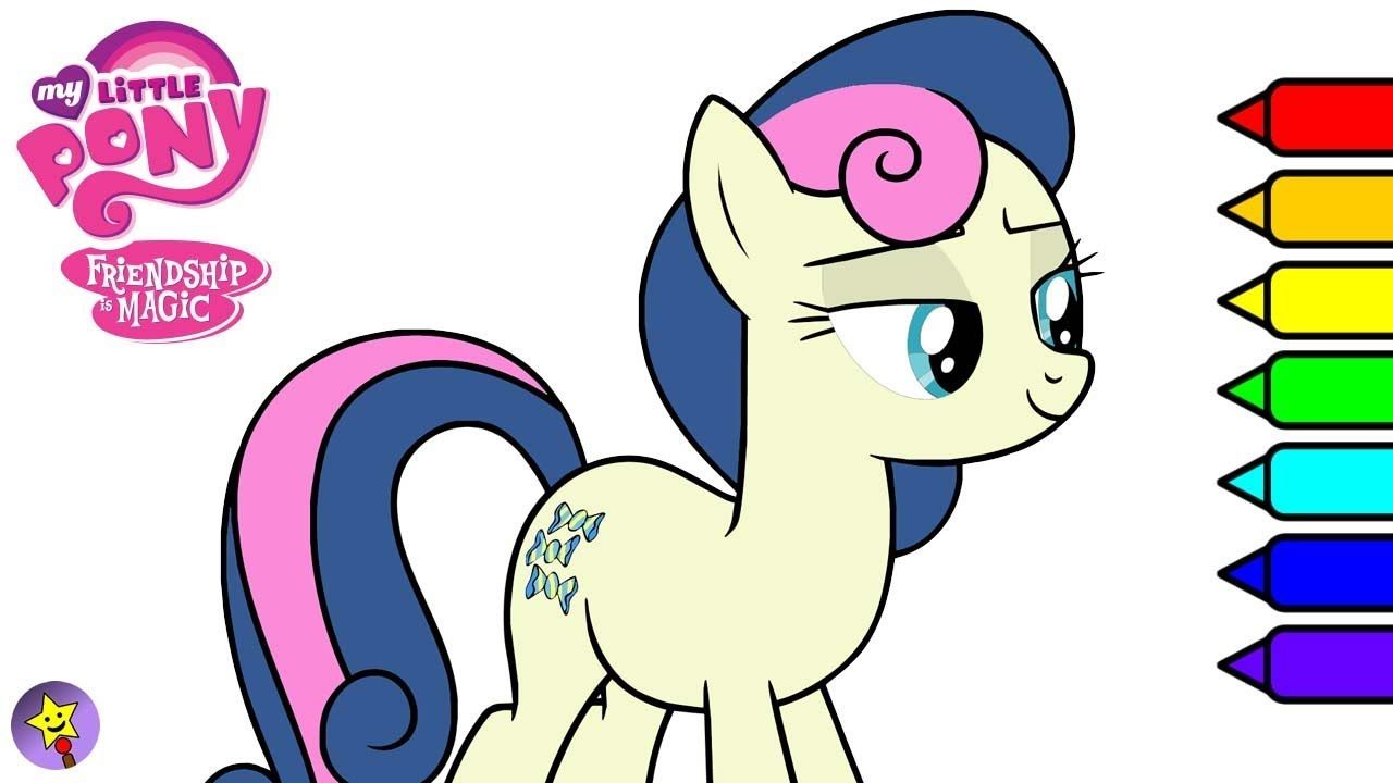 My Little Pony Bon Bon Digital Coloring Book Page Video Bon Bon Coloring Book Page Sweetie Drops Coloring Bo My Little Pony Coloring Happy Magic Coloring Books