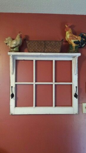Repurposed Window Frame Shelf Love It Window Frame