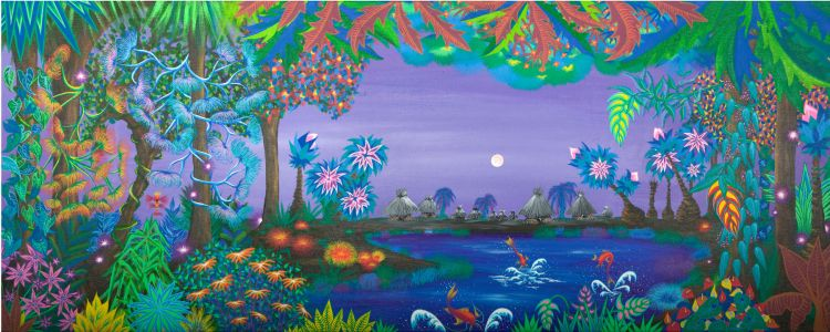 This is colourful and beautiful art made by Veronique Augeard.