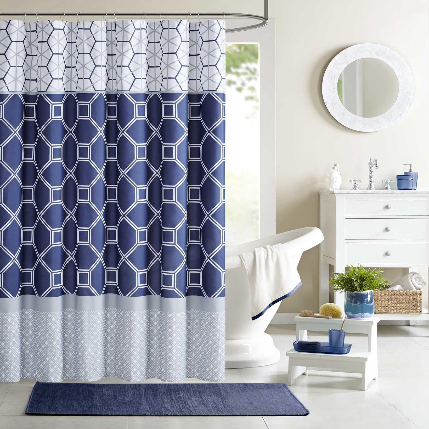 Clara Microfiber Shower Curtain Curtains Shower Curtains