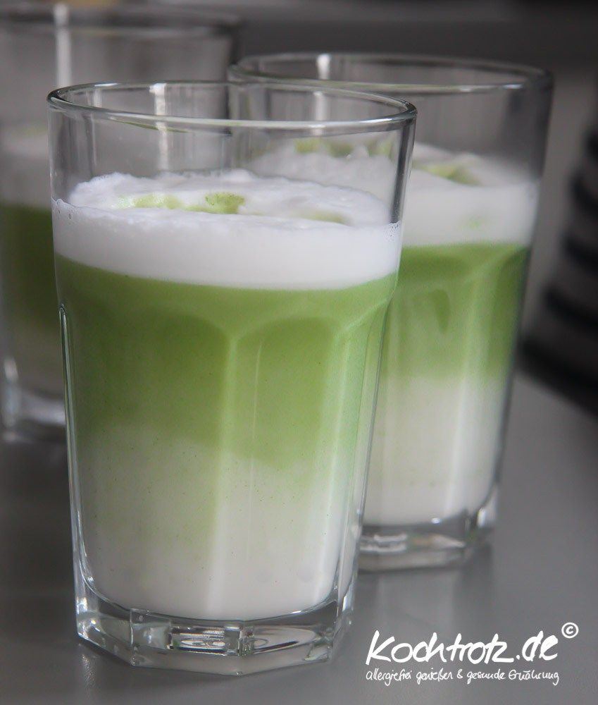 Matcha-Latte - einfaches Rezept #lattemacchiato