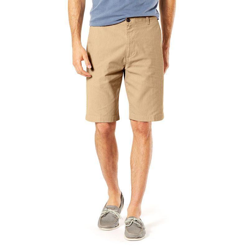Big & Tall Dockers Classic-Fit Perfect Shorts, Men's, Size: 46, Beig/Green (Beig/Khaki)