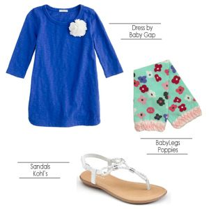 Poppies BabyLegs style - spring and summer simplicity.