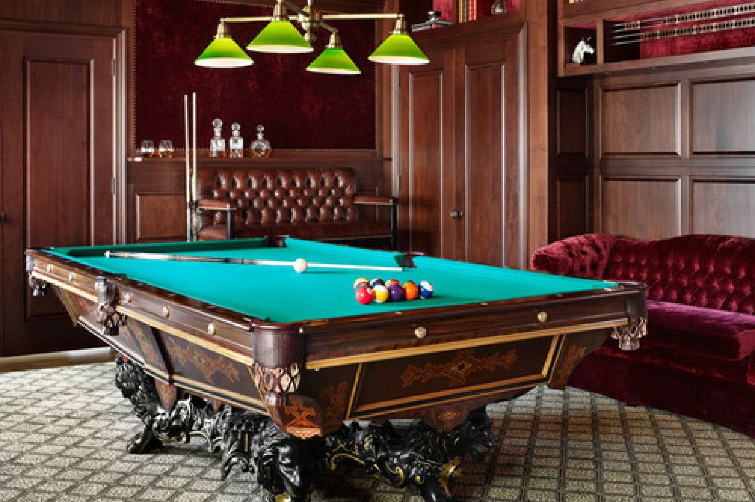 PHOTOS 15 Billiards Rooms Wed Love In Our Home