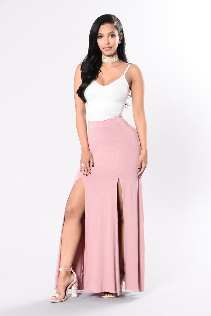 Let The Nights Flow Skirt - Mauve | Moda casual