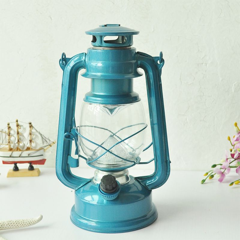 Wrought Iron Led Kerosene Alcohol Lamps Portable Lantern