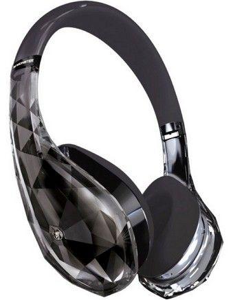 Monster Diamond Tears On Ear Headphones Black Audifonos